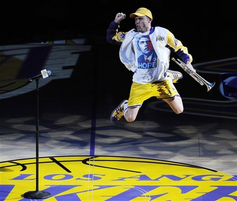 Flea Red Hot Chili Peppers National Anthem Los Angeles Lakers