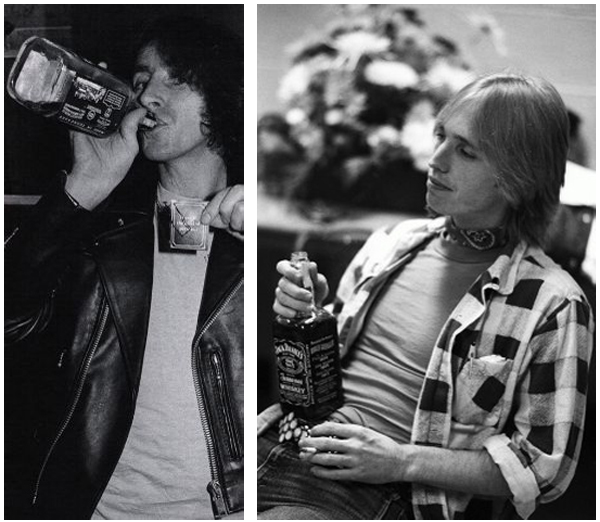 Jack Daniels Bon Scott AC/DC Tom Petty Rock N' Roll
