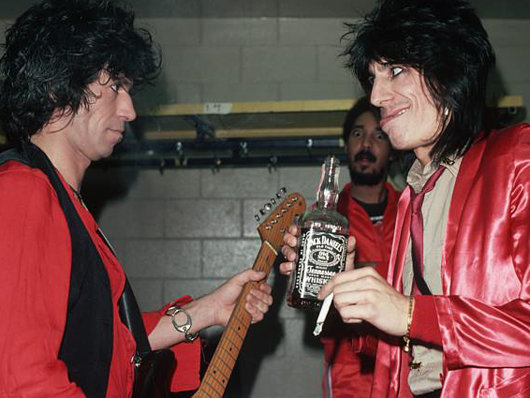 Jack Daniels Rock Stars The Rolling Stones ROnniw Wood