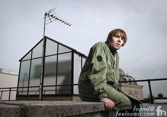 Liam Gallagher Oasis on The Beatles Apple Records Saville Row Roof Top Last Show