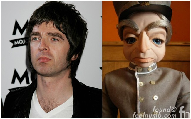 Noel Gallagher Parker Thunderbirds Puppet Liam Oasis