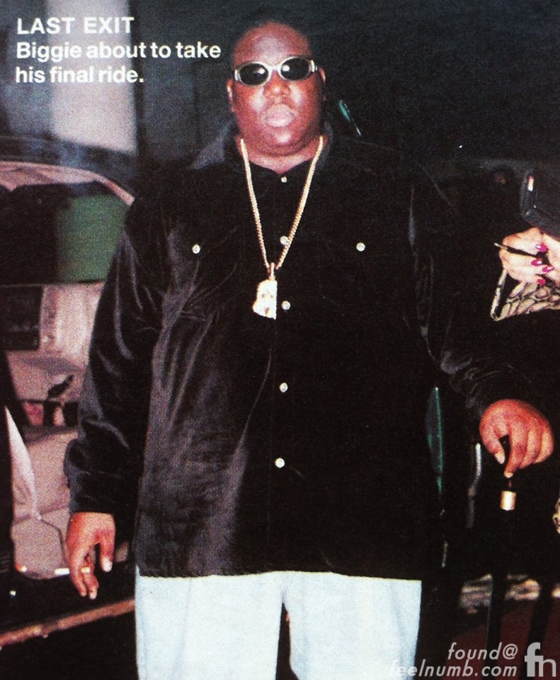 notorious big biggie smalls last photo March 9, 1997