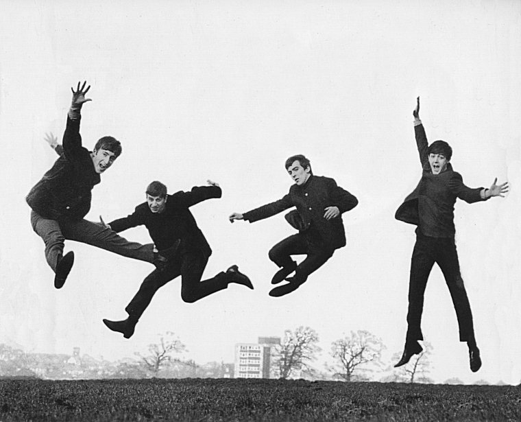 The Beatles Love Logo Jump Photo Allerton Golf Course