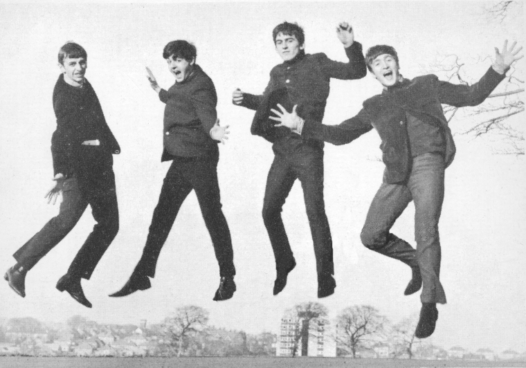 The Beatles Jump Photos Alternate Shots Love Show Logo