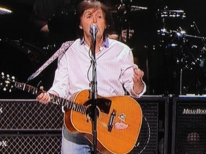 Paul McCartney Epiphone Texan Detroit Red Wings Pittsburg Penguins Sticker