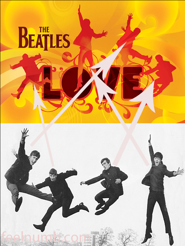 The Beatles Love Rearranged Jump Photo