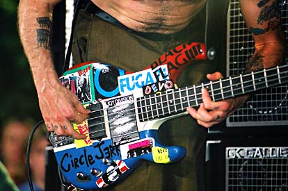 Flea Modulus Stickers On Bass Red Hot Chili Peppers