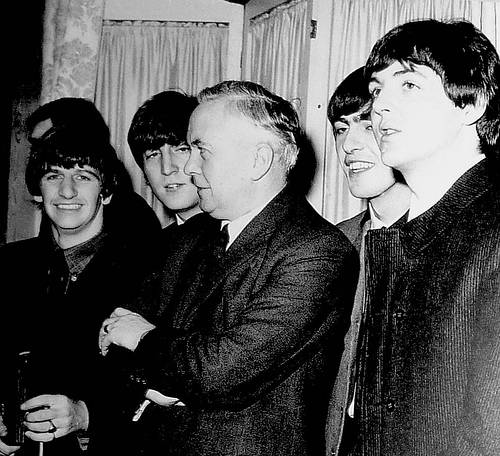 The Beatles George Harrison Mr. WIlson Sir Harold WIlson Taxman