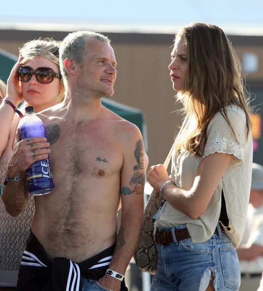 Flea Loesha Tattoo Frankie Rayder Red Hot Chilli Peppers