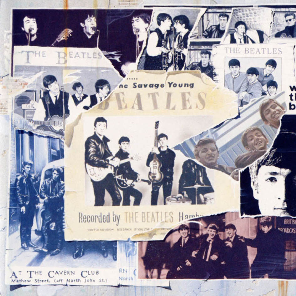 The Beatles Anthology 1 ALbum Cover Pete Best Ripped Away