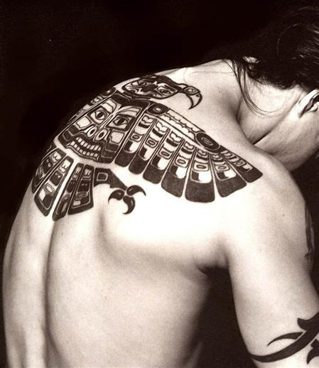 """ad2639f3d """"Haida"""" American Indians Inspired Both The Red Hot Chili Peppers Logo &  Anthony Kiedis' Back Tattoo 