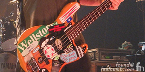 Jeff Ament Wellstone Modulus Silvertone Bass Stickers