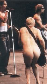 Flea Naked On Stage Butt Red Hot Chili Peppers