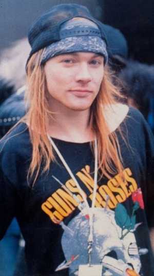 Axl Rose Wearing A Guns N' Roses Shirt