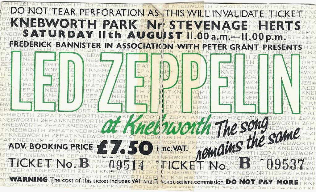 Led Zeppelin Knebworth August 11, 1979 Backstage Shirt