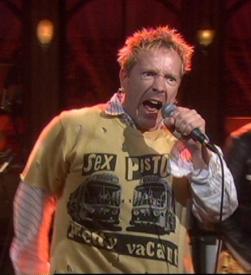 Johnny Rotten Wearing The Sex Pistols Shirt