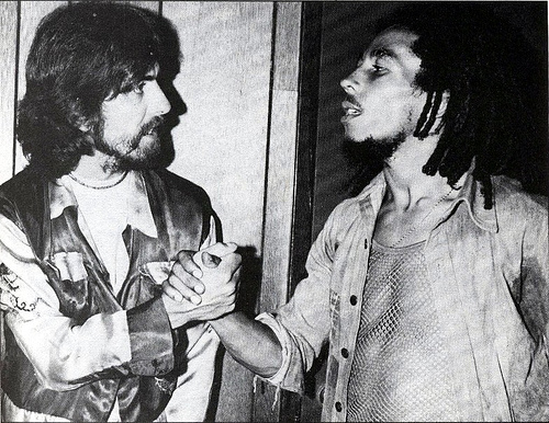 Bob Marley Meets George Harrison Backstage Roxy Los Angeles 1975