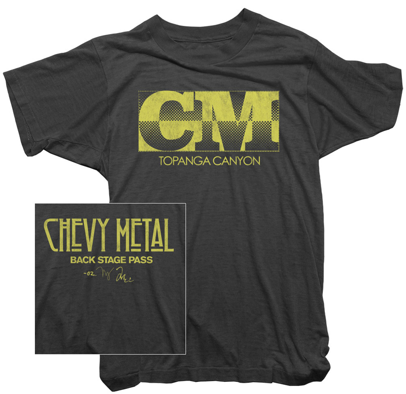 Chevy Metal CM Topanga Shirt Raul Rossell Dave Grohl Taylor Hawkins Worn Free Led Zeppelin Backstage