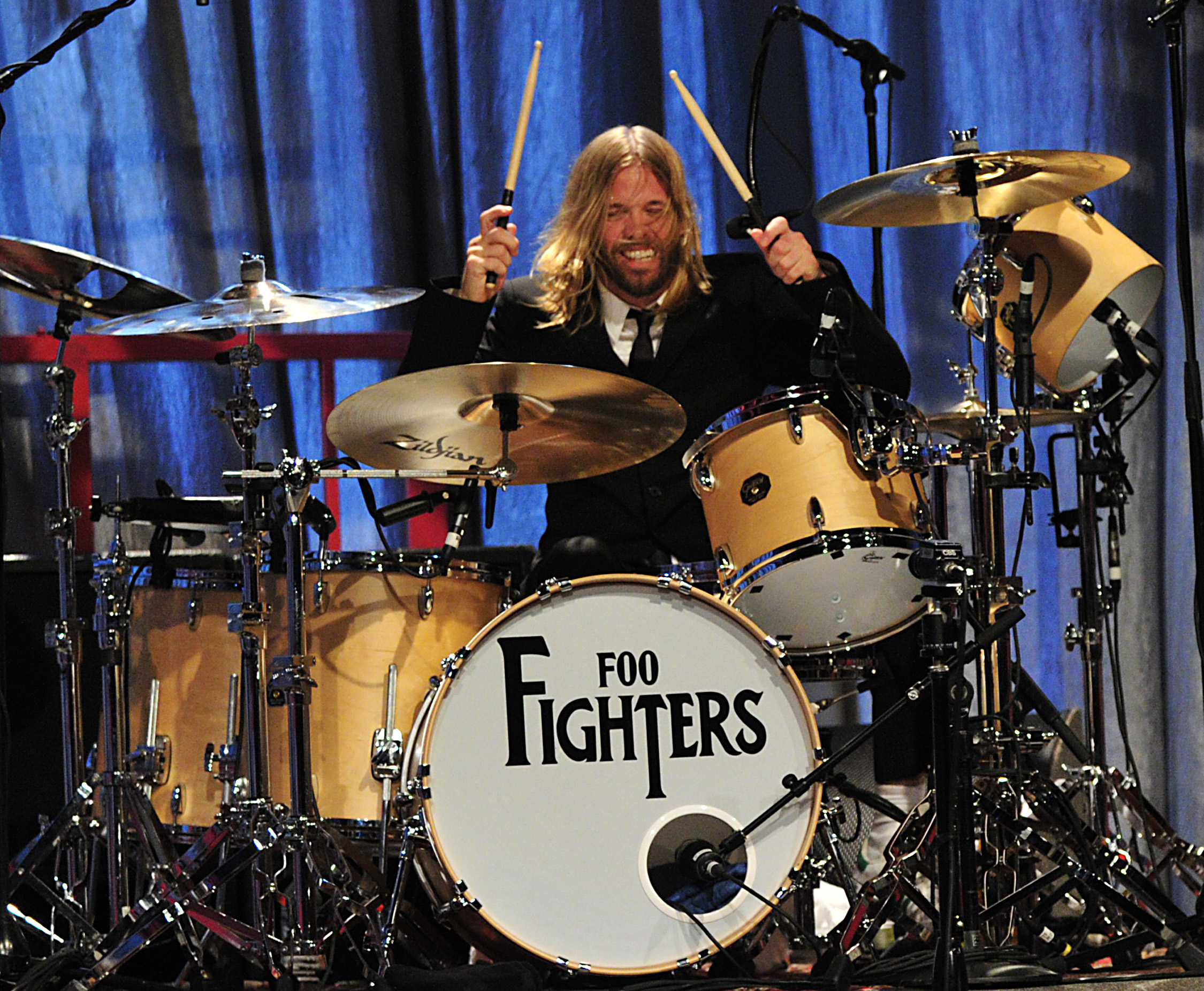 Taylor Hawkins Foo Fighters The Beatles Logo Drum kit