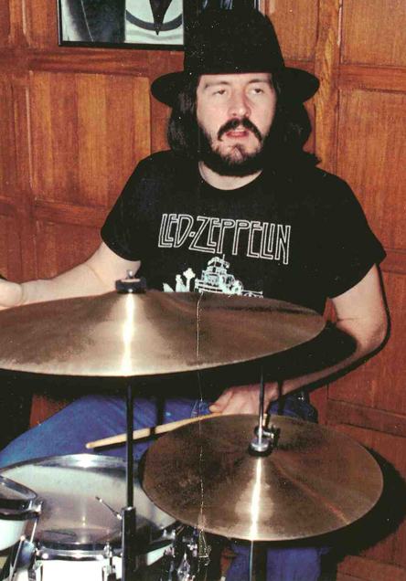 John Bonham Wearing Lead Zeppelin Tee Shirt