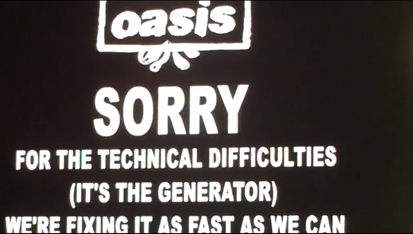 Oasis Heaton Park Refunds Technical Difficulties Heaton Park