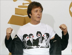 Paul McCartney Wearing The Beatles Shirt
