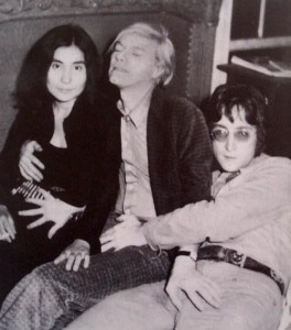 John Lennon Andy Warhol Yoko Ono Touching Each Other
