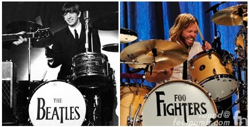 The Beatles Foo Fighters Drum Kits Ringo Starr Taylor Hawkins
