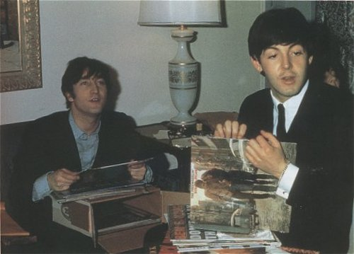 John Lennon Paul McCartney Bob Dylan Record The Beatles
