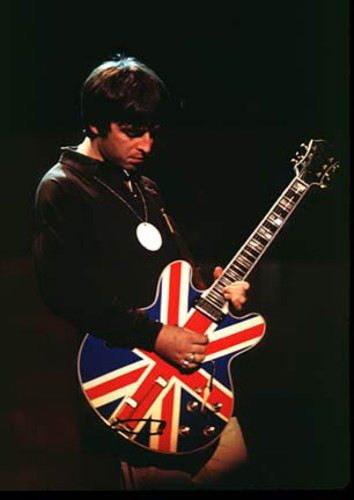 Noel Gallagher Union Jack Guitar Oasis