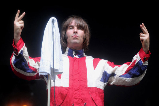 Liam Gallagher Union Jack Jacket Beady Eye Oasis