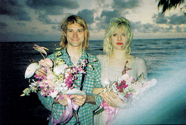 Kurt Cobain Courtney Love Wedding Hawaii February 24, 1992