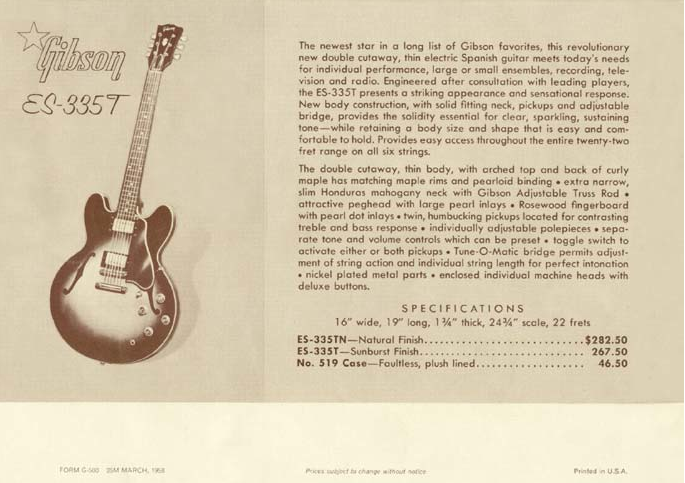Marty McFly Back To The Future Guitar Gibson ES-335