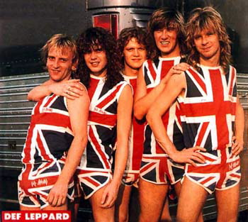 Del Leppard Union Jack Shorts & Shirt