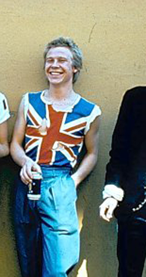 Johnny Rotten John Lydon The Sex Pistols Union Jack