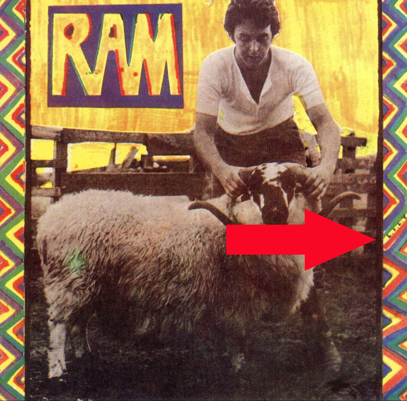 Paul & Linda McCartney Ram Album Cover Hidden Message L.I.L.Y.