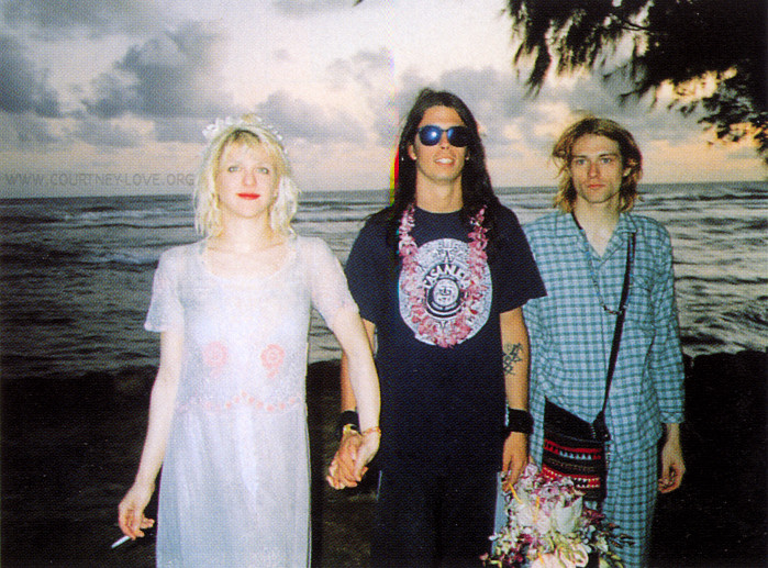 Kurt Cobain Wedding Courtney Love Dave Grohl Hawaii February 24, 1992