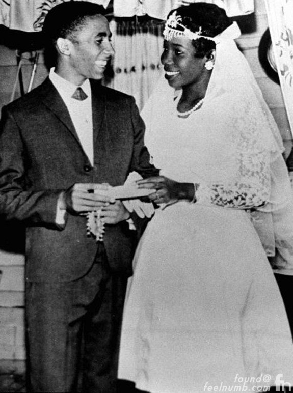 Bob Marley Rita Anderson Wedding 1966 Children Kids