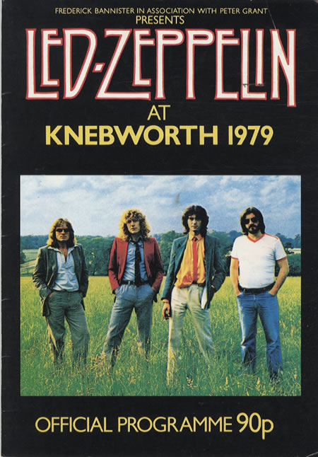 Led Zeppelin Knebworth 1979 Program