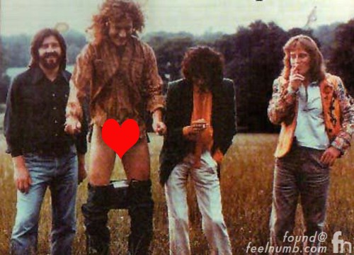 Led Zeppelin Knebworth Photo Session Robert Plant Pants Down Censored