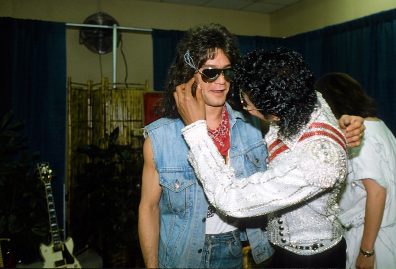 Eddie Van Halen Michael Jackson Beat It Live Victory Tour