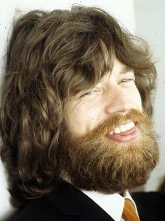 Mick Jagger With A Beard