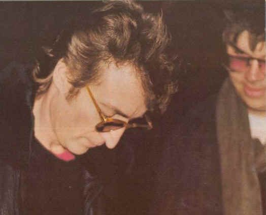 John Lennon Signing An Autograph For Mark David Chapman