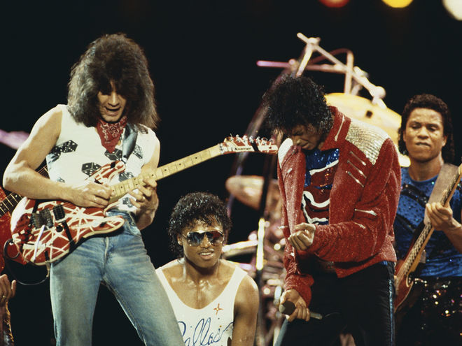 Eddie Van Halen The Jackson Dallas Texas 1984 Beat It Michael Jackson