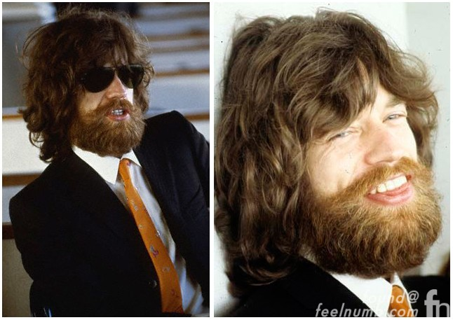Mick Jagger Full Beard The Rolling Stones