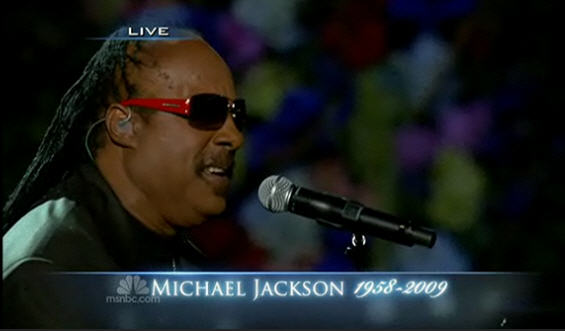 Michael Jackson Memorial Image In Flowers Stevie Wonder