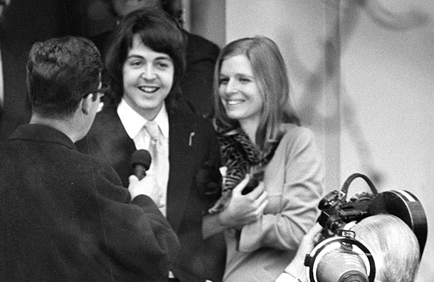 Paul McCartney Linda Eastman Wedding Marylebone Register Office