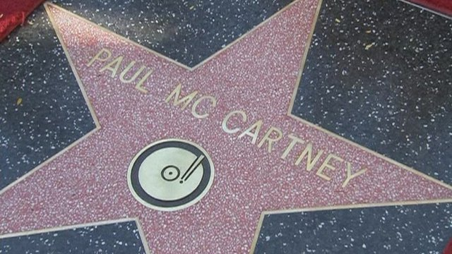 Paul McCartney Hollywood Walk Of Fame Star The Beatles