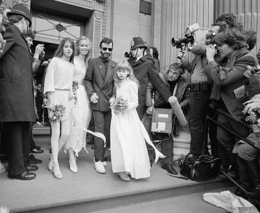Ringo Starr Barbara Bach Wedding Marylebone Register Office