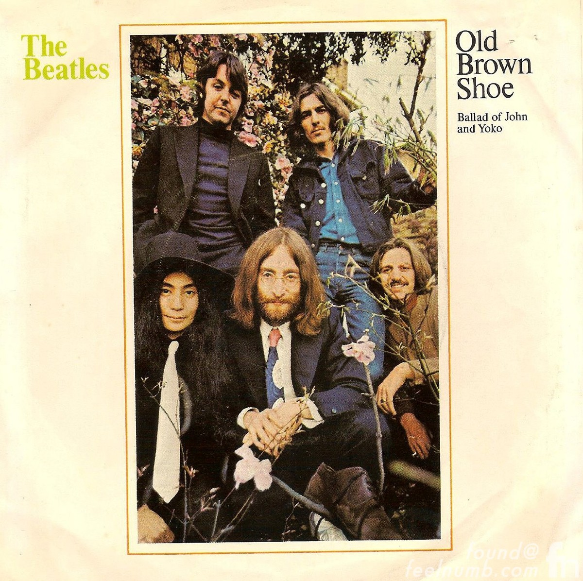 The Beatles Old Brown Show Yoko Ono Album Cover Single
